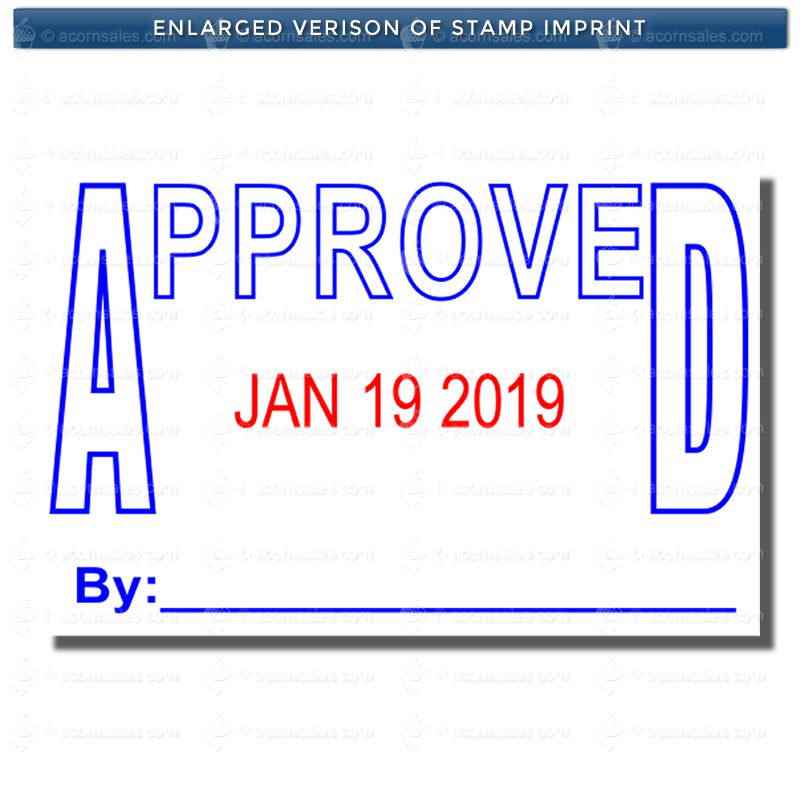 Stock Approved Date Stamp Stock Date Stamps Acorn Sales