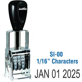 Self Inking Date Stamp 1/16 Characters