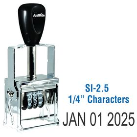 Self Inking Date Stamp 1/4 Characters