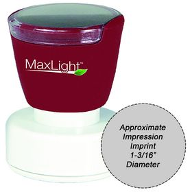 MaxLight XL2-495 Pre Inked Stamp 1-3/16 Diameter