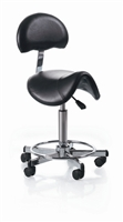 Hydraulic Saddle Esthetician Stool