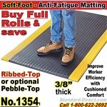 Ribbed Cushion-Sponge Anti-Fatigue Matting / 1354