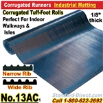 Corrugated Tuff-Foot Runner Matting / 13AC