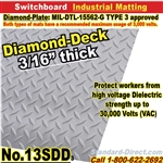 Diamond-Plate & Smooth Switchboard Matting / 13SDD