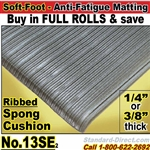 Ribbed Cushion-Sponge Anti-Fatigue Matting / 13SE