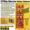 SLIM LINE FLAMMABLE LIQUID SAFETY CABINETS 99BA