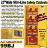 FLAMMABLE LIQUID SLIM LINE SAFETY CABINETS 99BJ