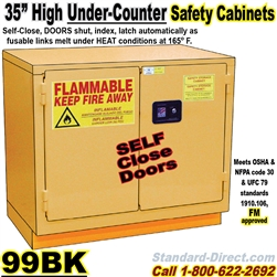 UNDER COUNTER FLAMMABLE LIQUID SAFETY CABINETS 99BK
