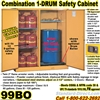 FLAMMABLE LIQUID SAFETY DRUM CABINETS 99BO