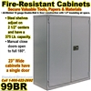 FIRE RESISTANT STEEL STORAGE CABINETS / 99BR