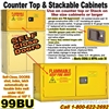 FLAMMABLE LIQUID SAFETY COUNTER TOP CABINET 99BU