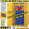 FLAMMABLE LIQUID SAFETY DRUM CABINETS 99BV1