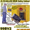 FLAMMABLE LIQUID SAFETY DRUM CABINETS 99BV2