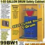 FLAMMABLE LIQUID SAFETY DRUM CABINETS 99BW1