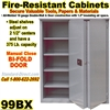 FIRE RESISTANT STEEL STORAGE CABINETS / 99BX