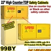 COUNTER TOP FLAMMABLE LIQUID SAFETY CABINET 99BY