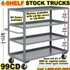 SHELF TRUCKS & WAREHOUSE STOCK TRUCKS 99CD