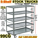 MESH SHELF TRUCKS & WAREHOUSE STOCK TRUCKS 99CG