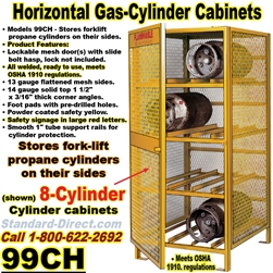 GAS CYLINDER SAFETY CABINETS 99CH