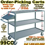 ORDER PICKING CARTS W/WRITING SHELF 99CO