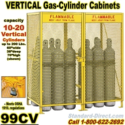 GAS CYLINDER SAFETY CABINETS 99CV