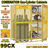 GAS CYLINDER SAFETY CABINETS 99CX