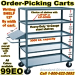 ORDER PICKING CARTS WITH WRITING SHELF 99EO