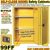 SELF CLOSE FLAMMABLE LIQUID SAFETY CABINETS 99FF
