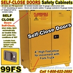 self close FLAMMABLE LIQUID SAFETY CABINETS 99FS
