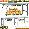FOLDING STEEL WORK BENCHES / 99FTA