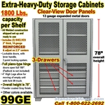 STEEL STORAGE CABINETS / 99GE