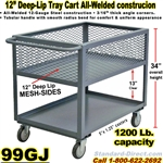 DEEP TRAY SERVICE CARTS 99GJ