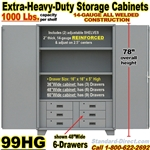 STEEL STORAGE CABINET WITH DRAWERS / 99HG