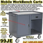 MOBILE CABINET WORKBENCH CARTS 99JE