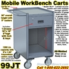NARROW MOBILE WORKBENCH CARTS 99JT