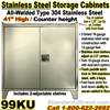 STAINLESS STEEL STORAGE CABINETS / 99KU