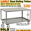 ROLLING STEEL TABLES 99LB