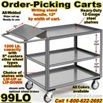 ORDER PICKING CARTS W/WRITING SHELF 99LO
