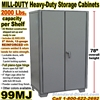 EXTRA HEAVY DUTY STEEL STORAGE CABINETS / 99MJ