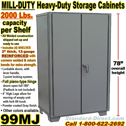 HEAVY DUTY STEEL STORAGE CABINETS / 99MJ