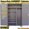 STEEL STORAGE GARMENT CABINETS / 99MS