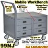 6 DRAWER MOBILE WORKBENCH CARTS 99NJ