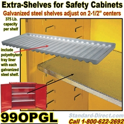 EXTRA SHELVES FOR SAFETY CABINETS 99OPGL