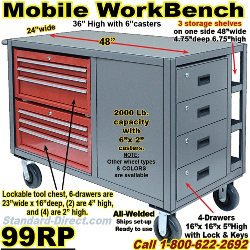 Fantastic Mobile Workbench Tool Carts 99Rp Gmtry Best Dining Table And Chair Ideas Images Gmtryco