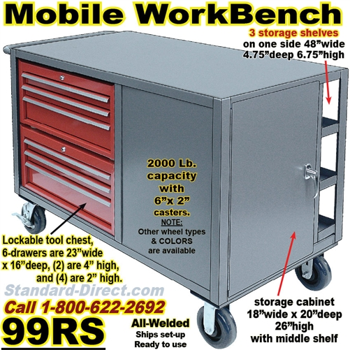Pleasing Mobile Tool Workbench Cart 99Rs Gmtry Best Dining Table And Chair Ideas Images Gmtryco