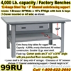 EXTRA HEAVY DUTY WORK BENCHES / 99RU