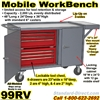 MOBILE TOOL WORKBENCH CART 99RV