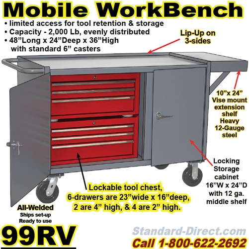 Fantastic Mobile Tool Workbench Cart 99Rv Alphanode Cool Chair Designs And Ideas Alphanodeonline