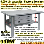 EXTRA HEAVY DUTY WORK BENCHES / 99RW