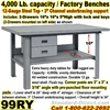 EXTRA HEAVY DUTY WORK BENCHES / 99RY